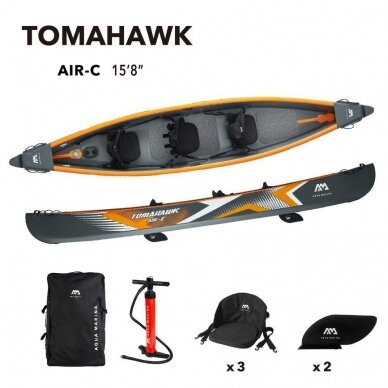 "Baidarė Aqua Marina Tomahawk 15'8"" (478cm) AIR-C 2021 11"