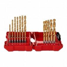 Grąžtų metalui rinkinys 1/4 HSS-G, Ø2-10mm, 19 vnt.