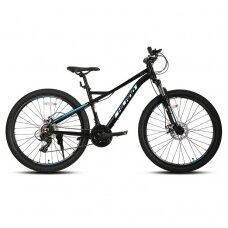 HILAND 21 greičio  dviratis aliuminiu rėmu (Juodas, 24 colių)