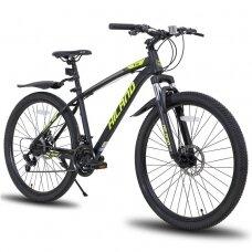 HILAND 21 greičio  kalnų dviratis suaugusiems (geltonas, 27,5 colių)