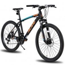 HILAND 21 greičio  kalnų dviratis suaugusiems (Oranžinis, 27,5 colių)