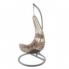 Kabantis-supamas krėslas Relax (Rudas)