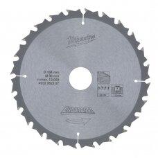 Pjovimo diskas medienai 184x30x1,8mm, Milwaukee