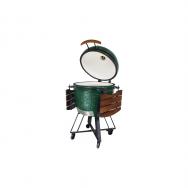 """SEB  KAMADO  keramikinė klasikinio dizaino kepsninė 21"""" (L) - ŽALIA"""