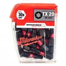 Sukimo antgalis Milwaukee TX20 25 mm, ShockWave 25vnt.